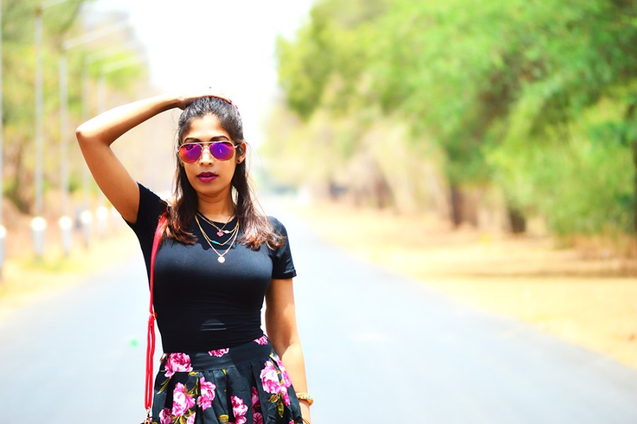 Fashion, Style, Fashion Bloggers, Indian Fashion Blogger, Street Style, Summer Fashion, Floral Midi Skirt, Crop top, Fashion Photography, Bohemian Fashion- 5