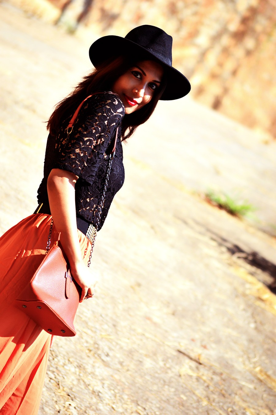 Fashion, Style, Fall Outfits, Fashion Photography, Street Style, Fall Fashion, Black Lace blouse, Maxi Skirt-3