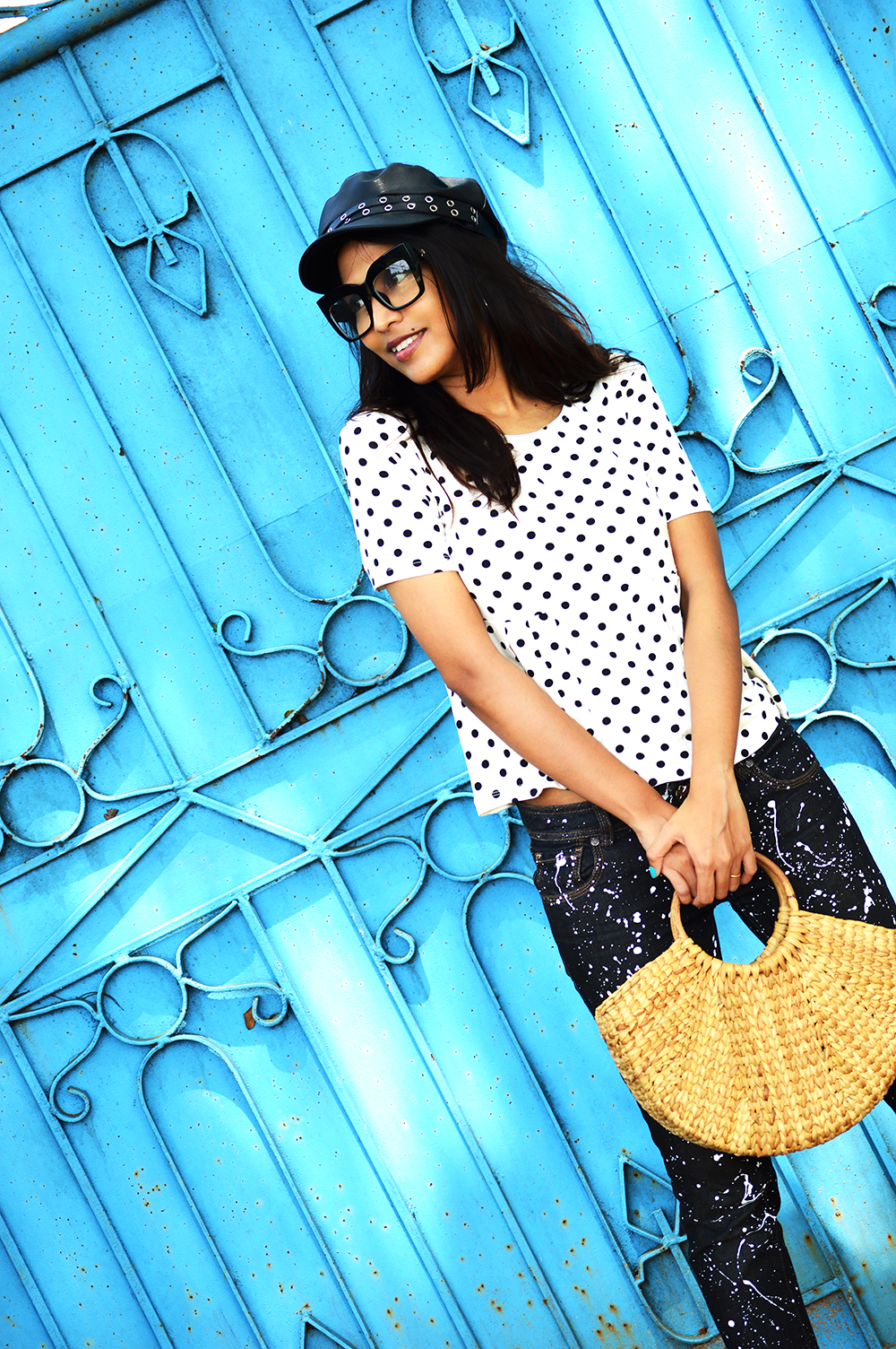 Fashion, Style, Polka Dots, DIY, Do It Yourself, Denim, Photography, Indian Fashion Blogger-2