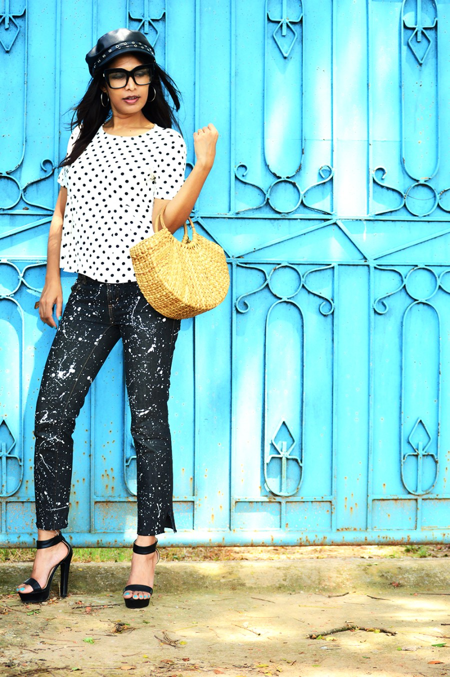 Fashion, Style, Polka Dots, DIY, Do It Yourself, Denim, Photography, Indian Fashion Blogger-7