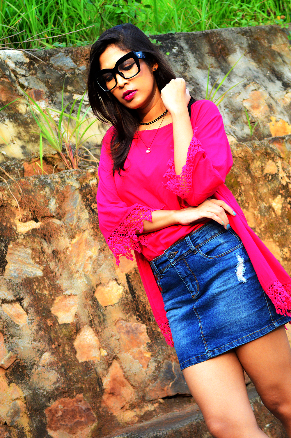 Fashion, Fuchsia Pink, Style, Street Style, Fashion Blogger, Beauty, Indian Fashion Blogger, Indian Street Style, Photography-2