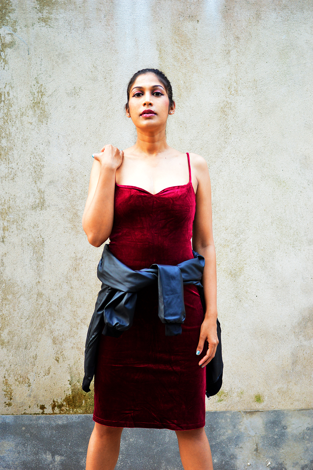 Street Style, Velvet Dress, Slip Dress, Fashion, Style, Indian Fashion Blogger, Indian Street Fashion, Photography-2
