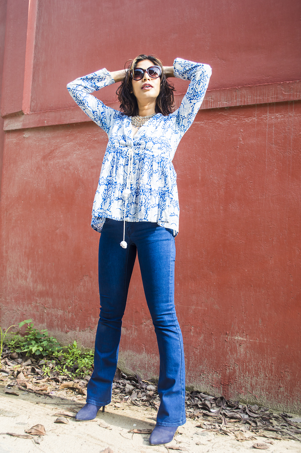 Fashion, Style, Bootcut denim, Indian Fashion Blogger, Retro Look, Beauty, Street Style, Photography, OOTD-1