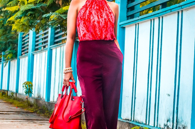 Velvet Culottes, Style Over Coffee, Sarmistha Goswami, Indian Blogger, Red Handbag, Style Tips, Fashionista, Fashion Influencer-1