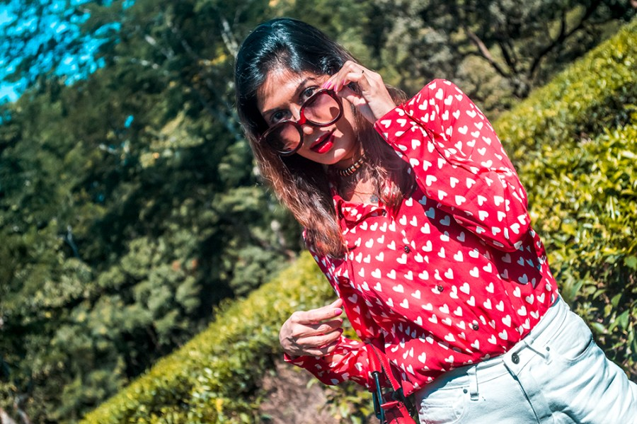 How to Style, White Denim, Culottes, Red Shirt, Red Handbag, Fashion Blogger, Indian Influencer-4