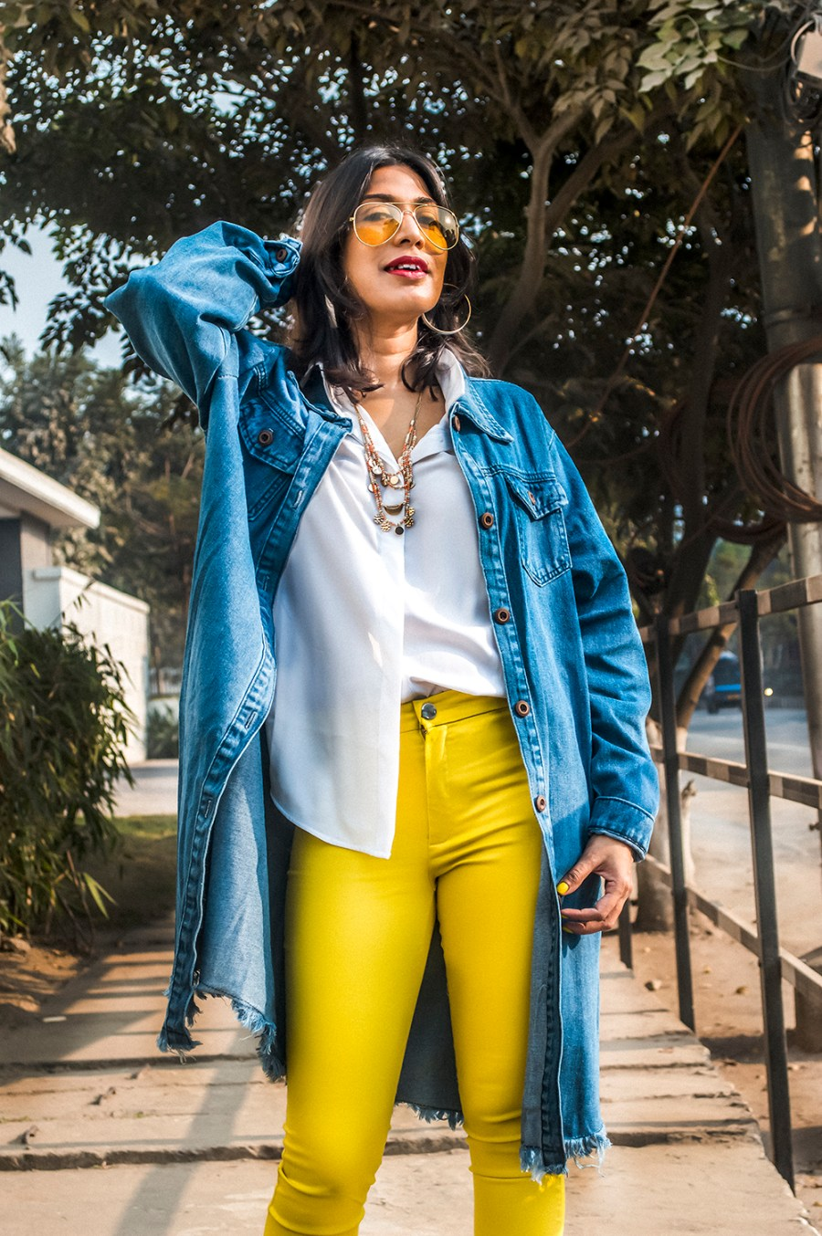 2021, Fashion, Style, Fashion Blogger, Indian Influencer, Beauty, Styling Tips, Yellow Pants, Denim, Style Over Coffee-5