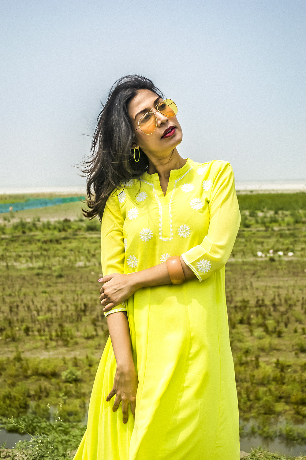 Spring style, Indian Wear, neon color, neon green, Indian outfit, Indian Blogger, Fashion, Style, Indian Fashion Blogger-1