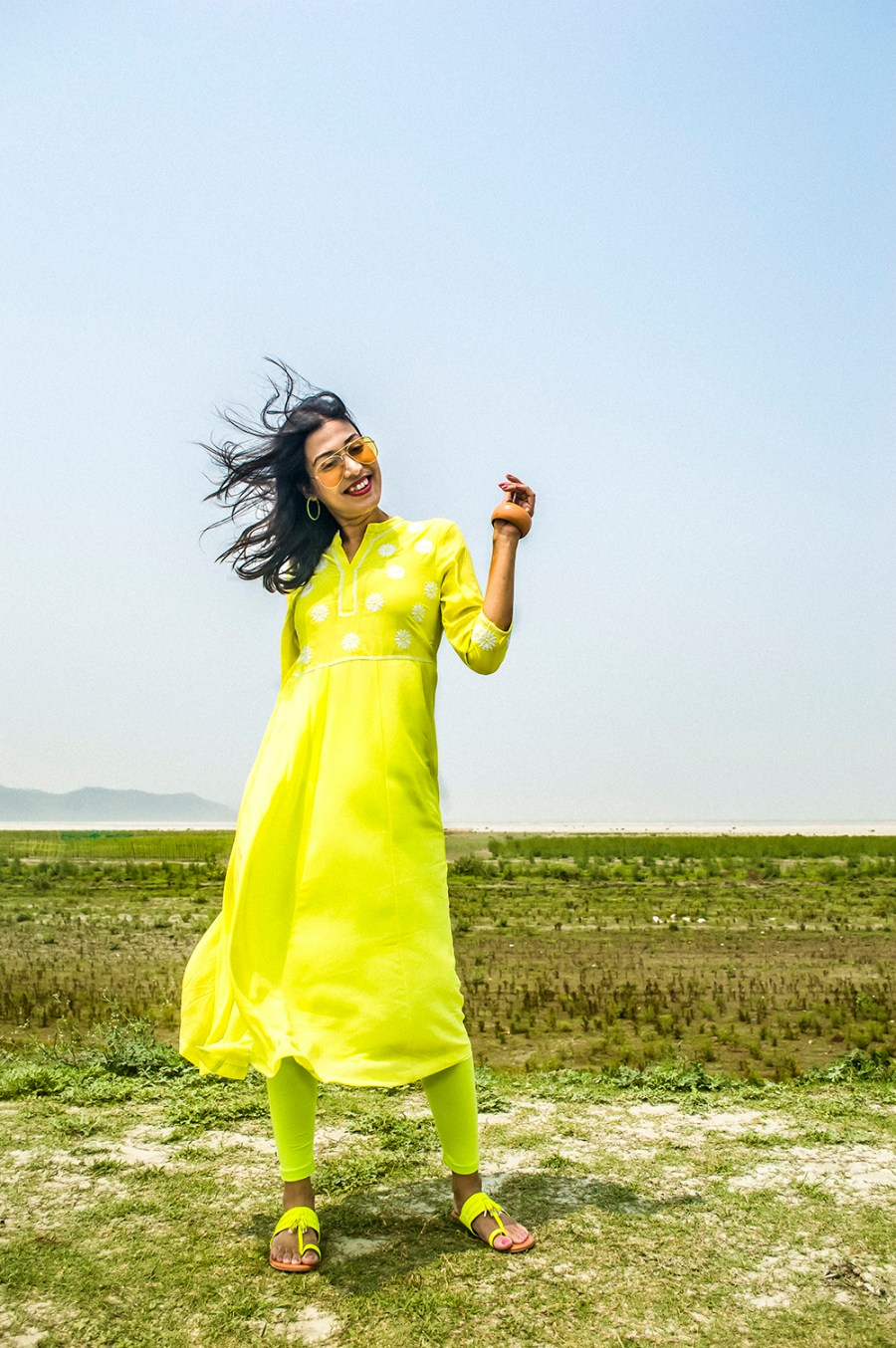 Spring style, Indian Wear, neon color, neon green, Indian outfit, Indian Blogger, Fashion, Style, Indian Fashion Blogger-2
