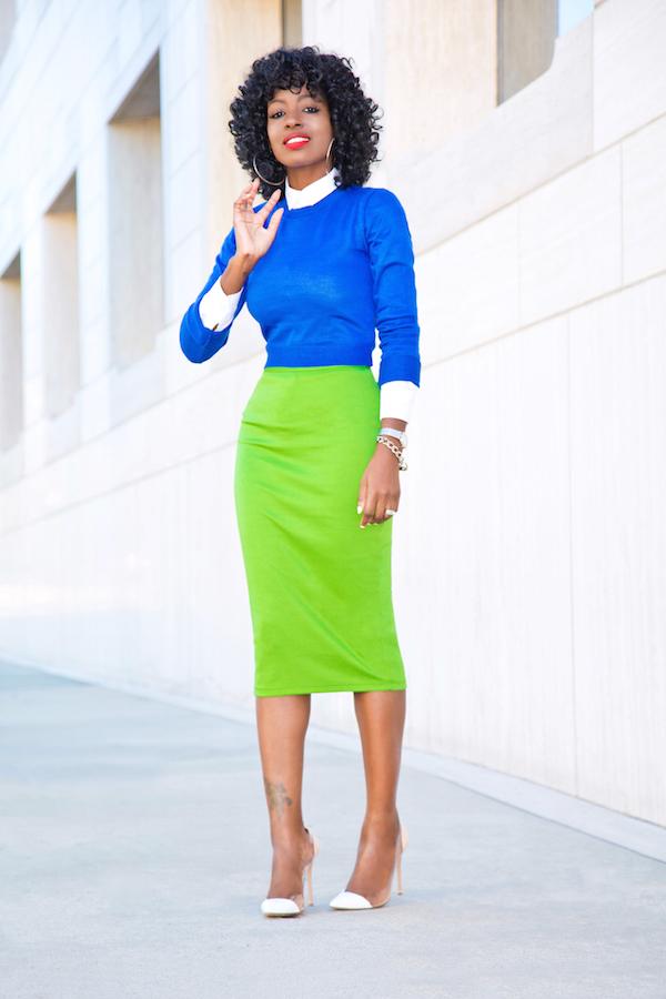 Green Pencil Skirt Fashion Skirts