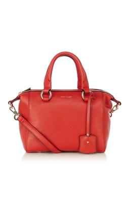 Karen Millen Mini bowler bag red