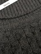 Aran sweater market MERINO WOOL TURTLENECK SWEATER detail