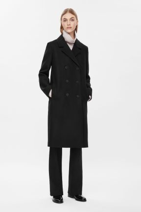COS DOUBLE-BREASTED COAT black