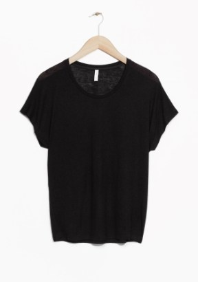 &Other Stories Wool-Blend Top black (85% modal 15% wool)