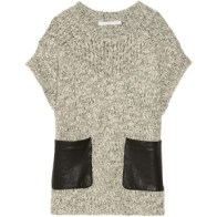 Thakoon Leather patch knit sweater $325, net-a-porter.com