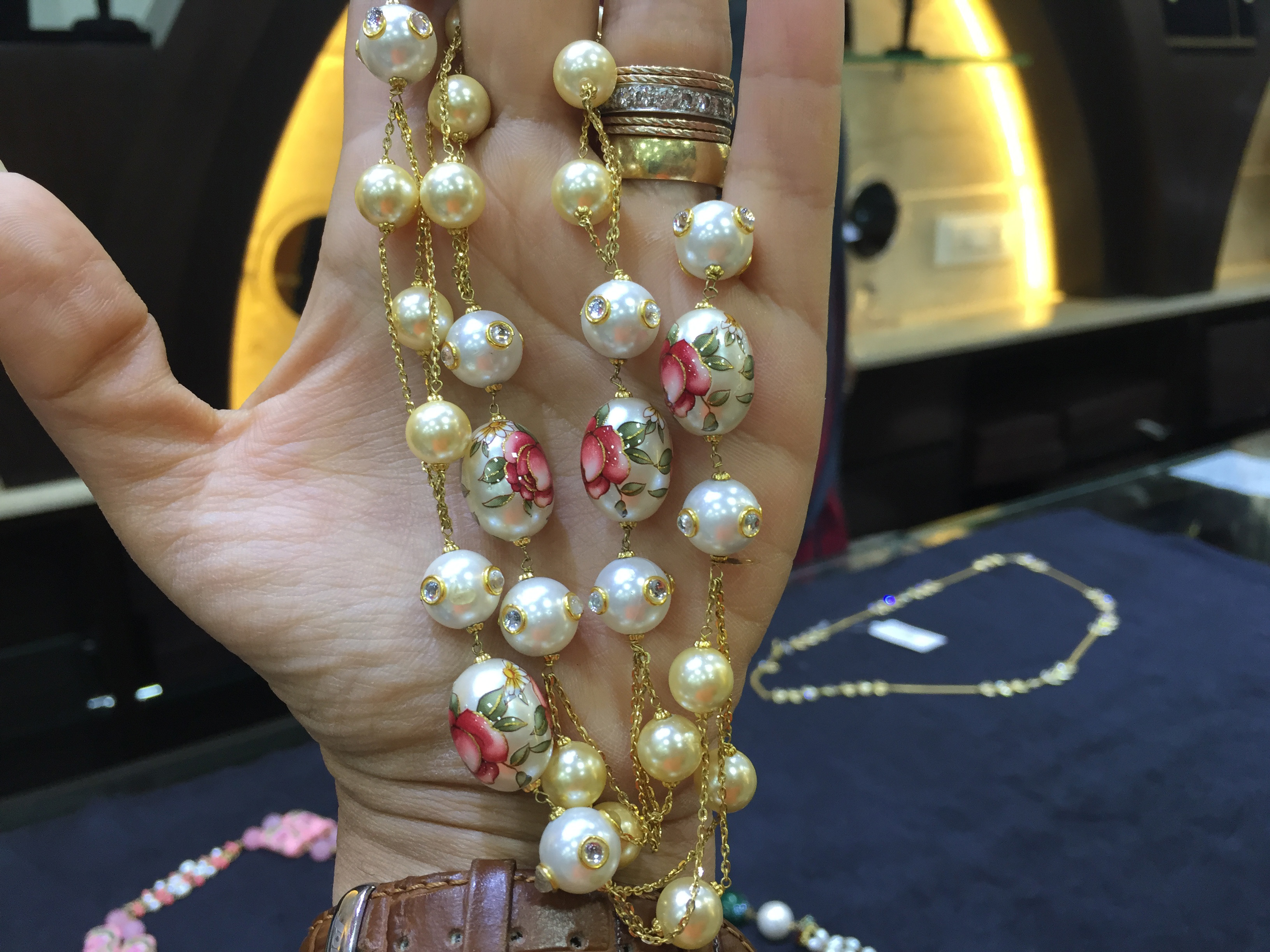 Layer it up with Gold, Pearl, Bead  Fashion Malas. PC- Style Prer
