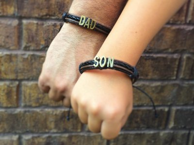 Dad and son bracelet. PC: Etsy