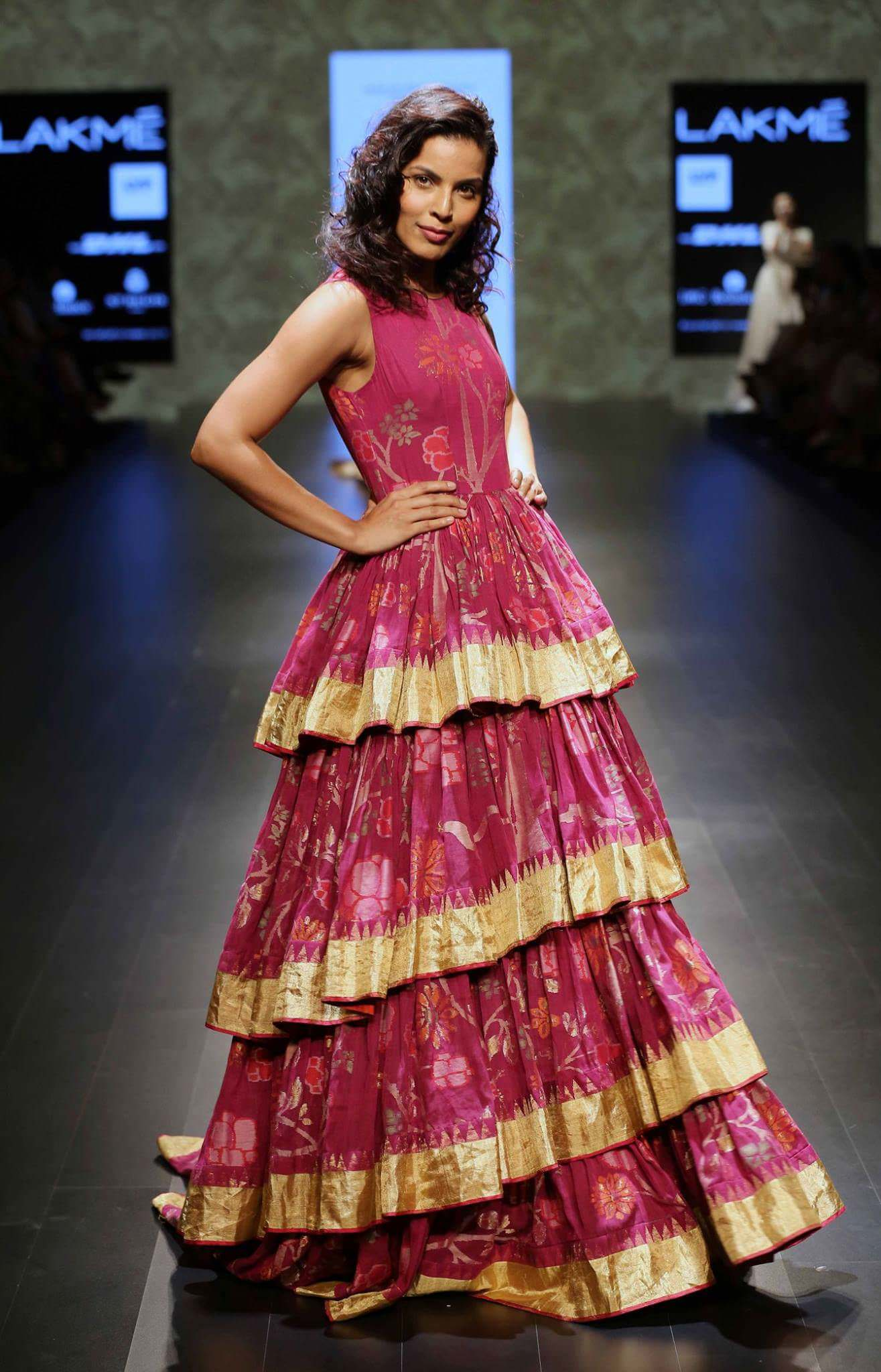 Dipti Gujral layers the look in a Gaurang Shah creation.