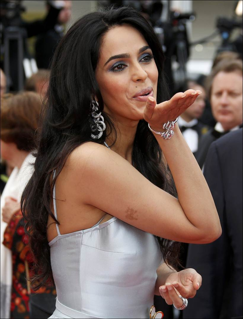 Mallika Sherawat in a Georges Hobeika and De Grisogono jewels. PC-indianexpress