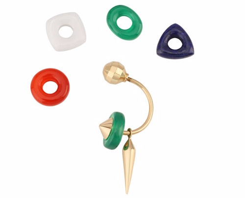 Tanishq Tri-Color Changeable Earrings. Pc www.myntra.com