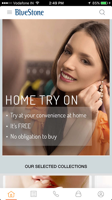 Home Try On Jewelry. Book Through Web Or Mobile App On Bluestone