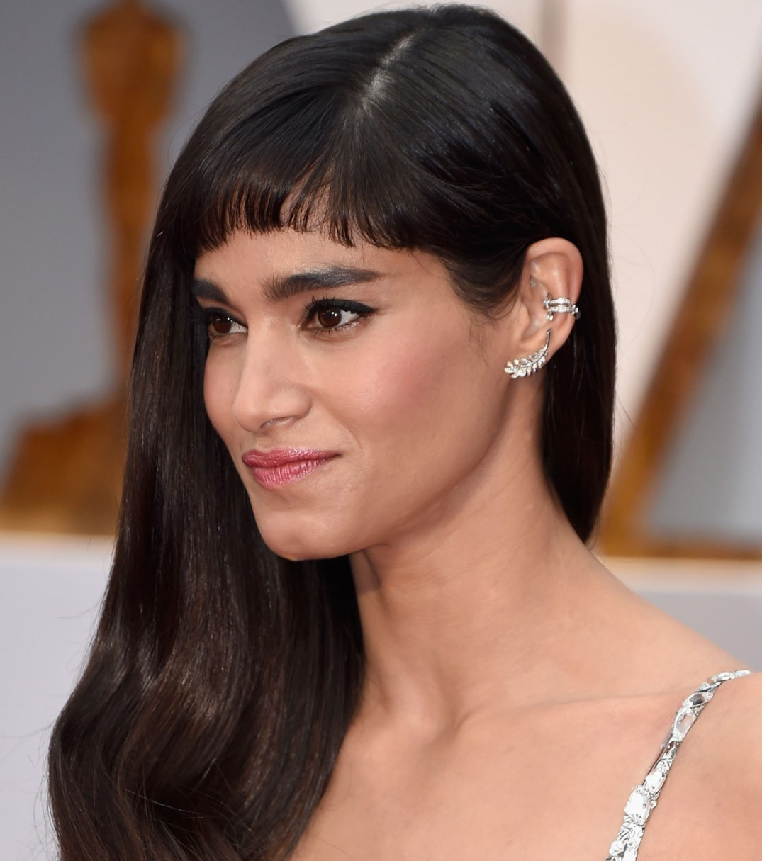 Sofia Boutella Looked Great In Diamond Ear Crawlers By Chanel Fine Jewelry. PC- Harper's Bazaar