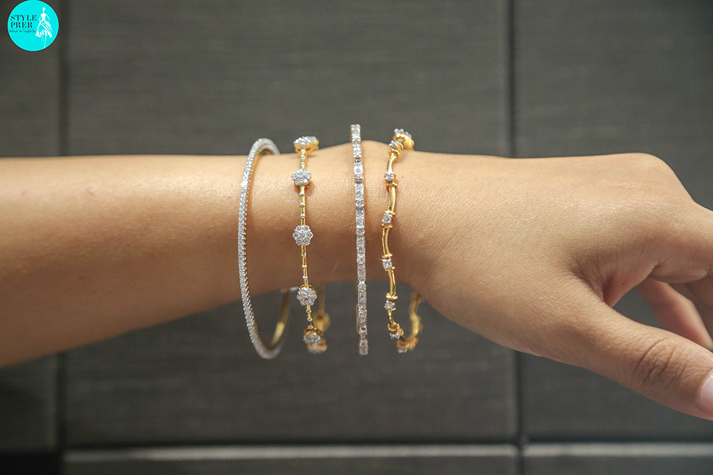Delicate Diamond Bangles For Daily Wear