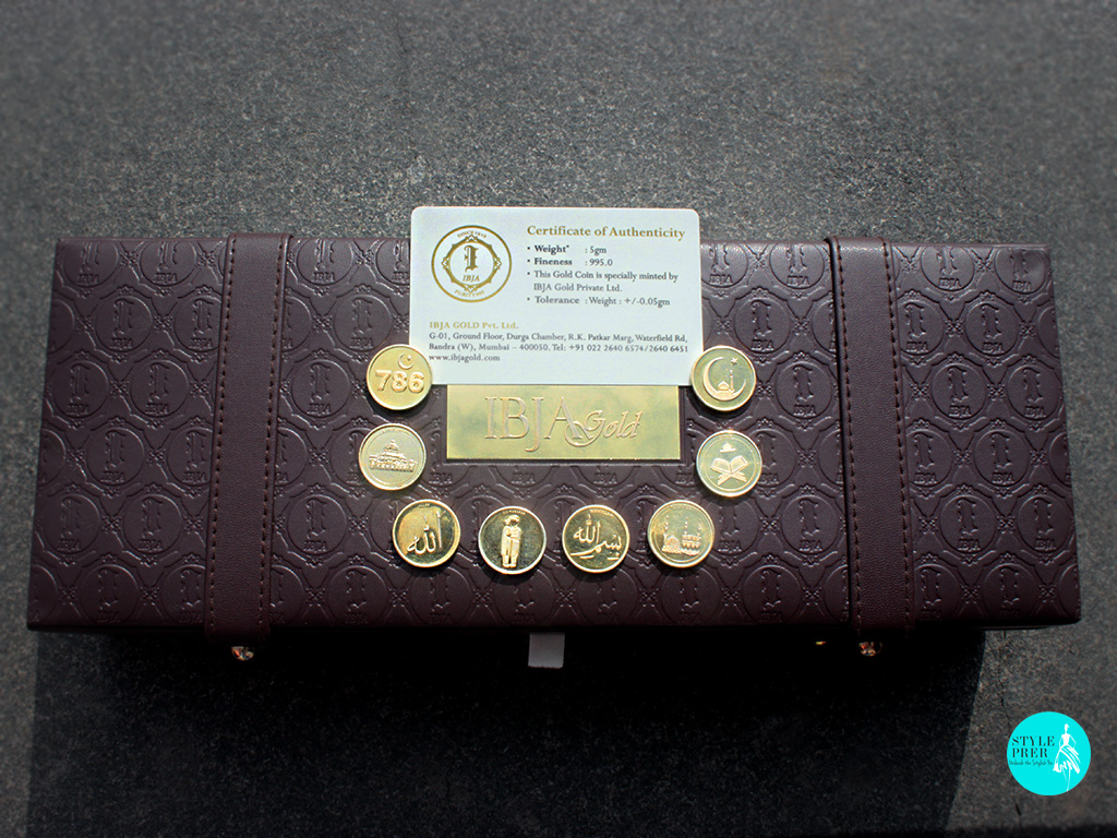 IBJA Gold Coin Leather Box With Devotional Coins For Muslims And Certificate Of Authenticity