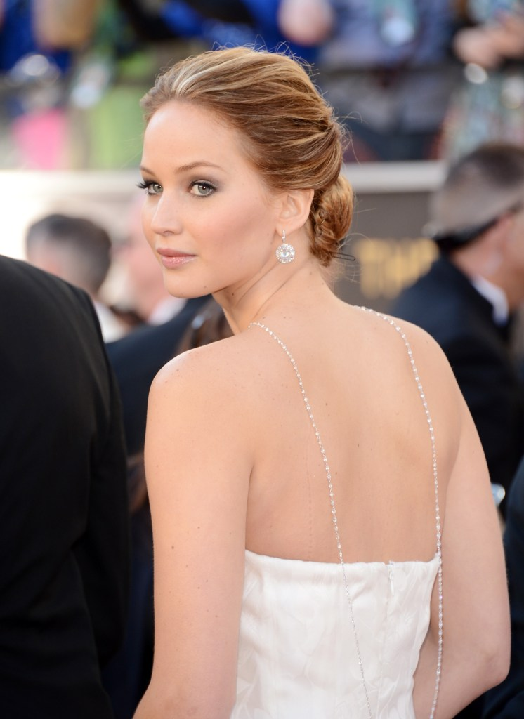 85th Annual Academy Awards - Jennifer Lawrence in a backdrop necklace