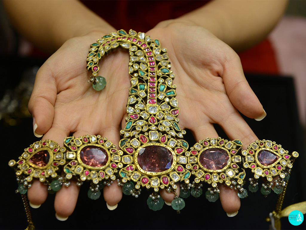 Antique Ruby, Emerald And Polki Kilangi-Sarpech Mens Jewellery By Amrapali