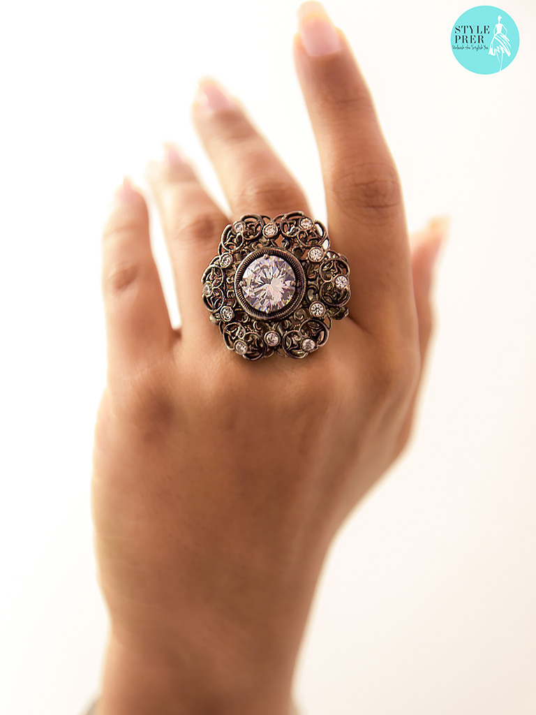 Forevermark Solitaire Vintage Diamond Cocktail Ring By Sabyasachi