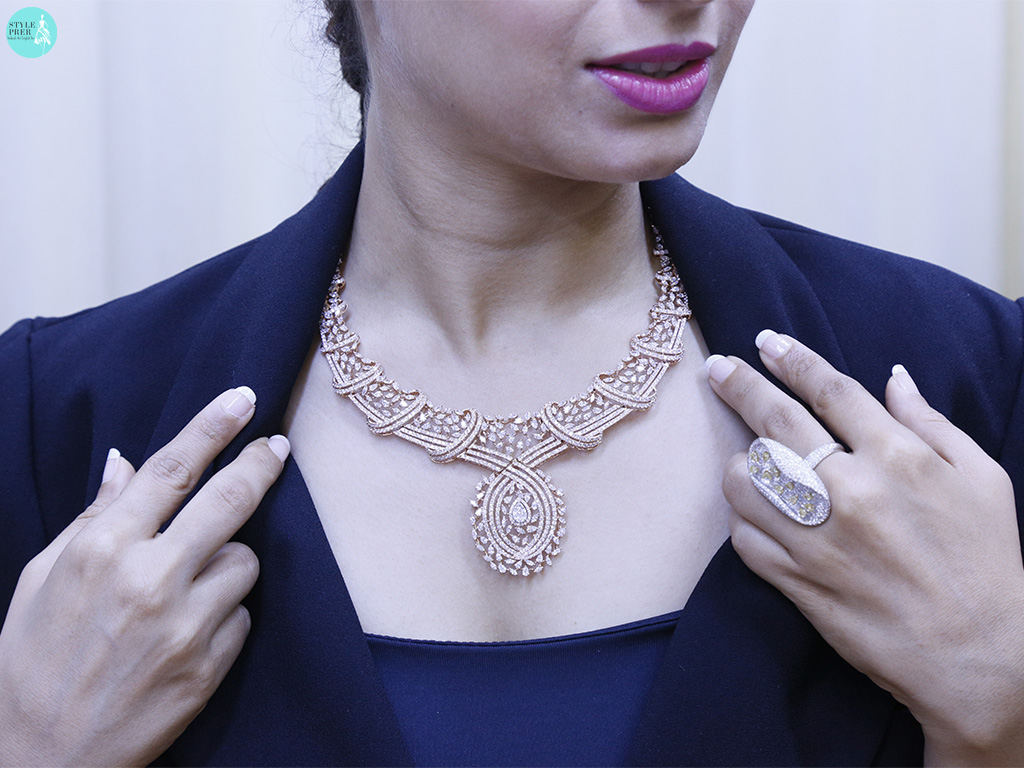 Bridal Fancy Shaped Diamond Necklace And Ring