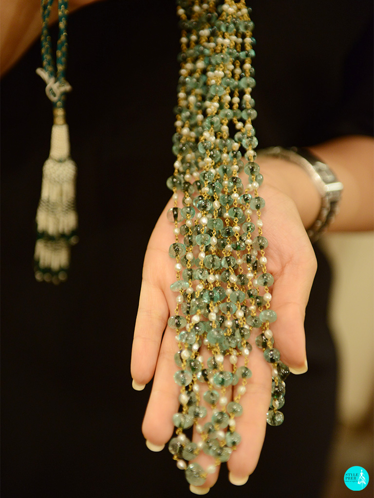 Antique Emerald Gemstone Mala By ShriHari Diagems By Vinay Gupta