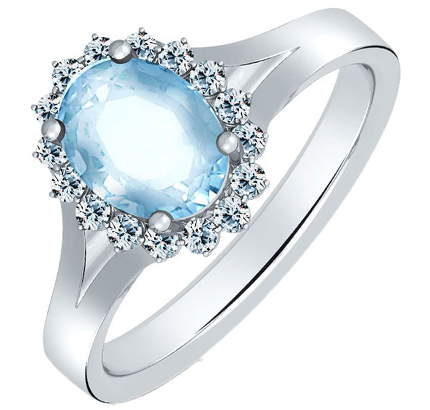 Caratlane Radiance Blue Topaz Ring