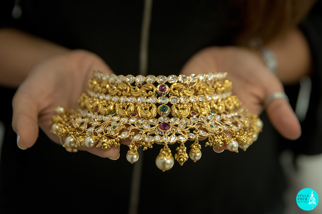 Gold And Kundan Bridal Necklace Set At GJF PMI
