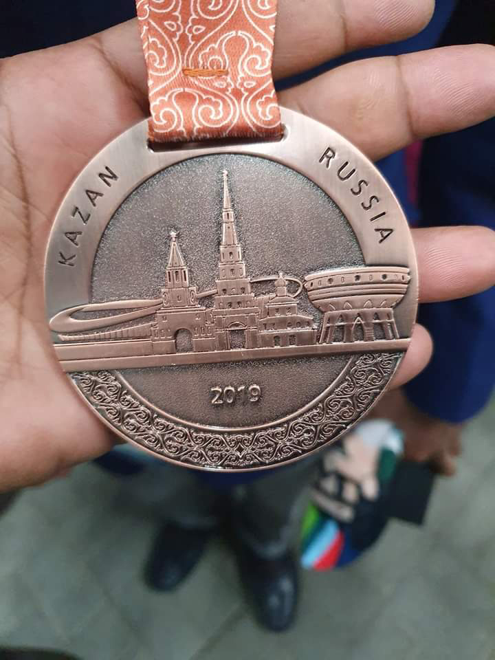 Sanjoy Pramanik won Bronze medal for Jewellery at the Kazan Russia