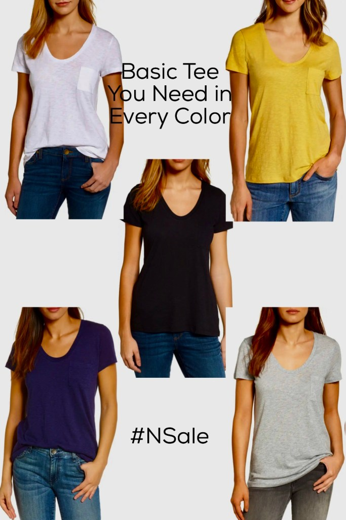 Basic T-shirt from Nordstrom Anniversary Sale 2021
