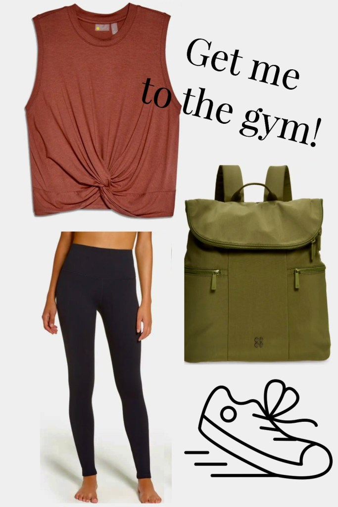 women's yoga or gym outfit from Nordstrom Anniversary Sale