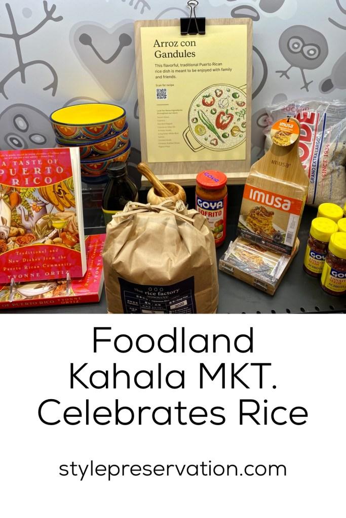 Foodland Kahala MKT. Celebrates Rice title picture