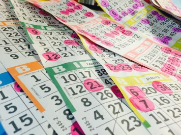 A pile of losing bingo sheets.