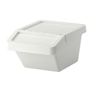 SORTERA Recycling bin with lid, 10 gallon