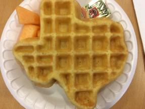 Texas-shaped Waffle!