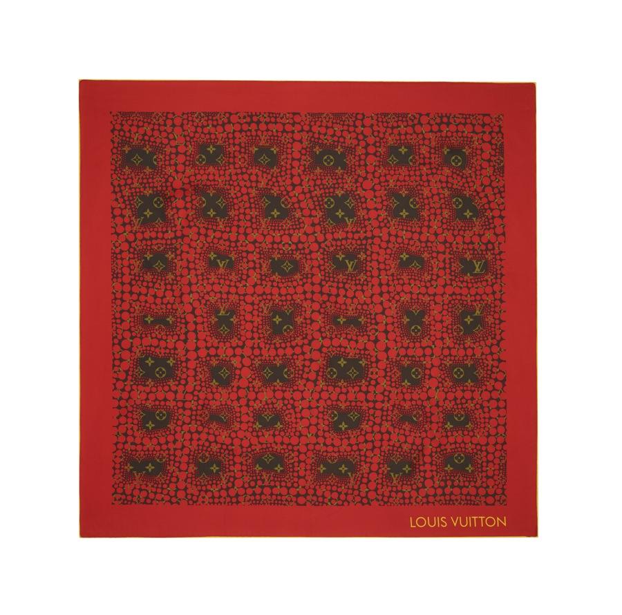 Yayoi Kusama Louis Vuitton Square Monogram Town red
