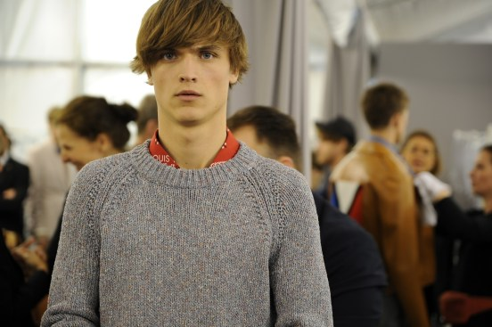 Backstage at the Louis Vuitton Men Spring Summer 2014 Show 13