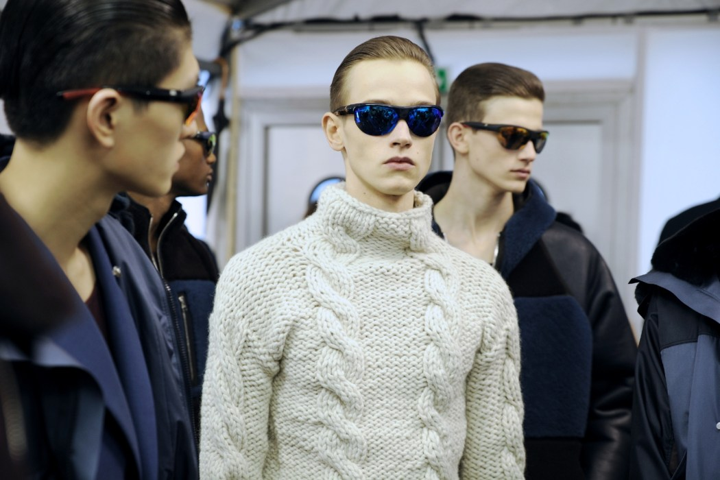 Backstage at the Louis Vuitton Menswear Fall Winter 2014 Show 44