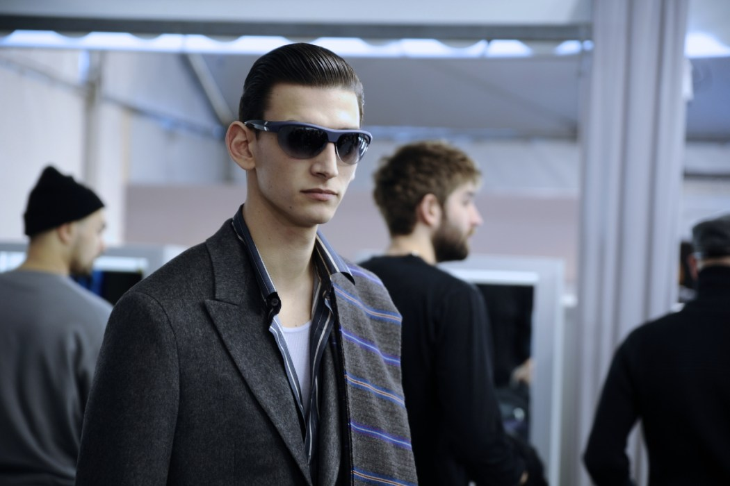 Backstage at the Louis Vuitton Menswear Fall Winter 2014 Show 48