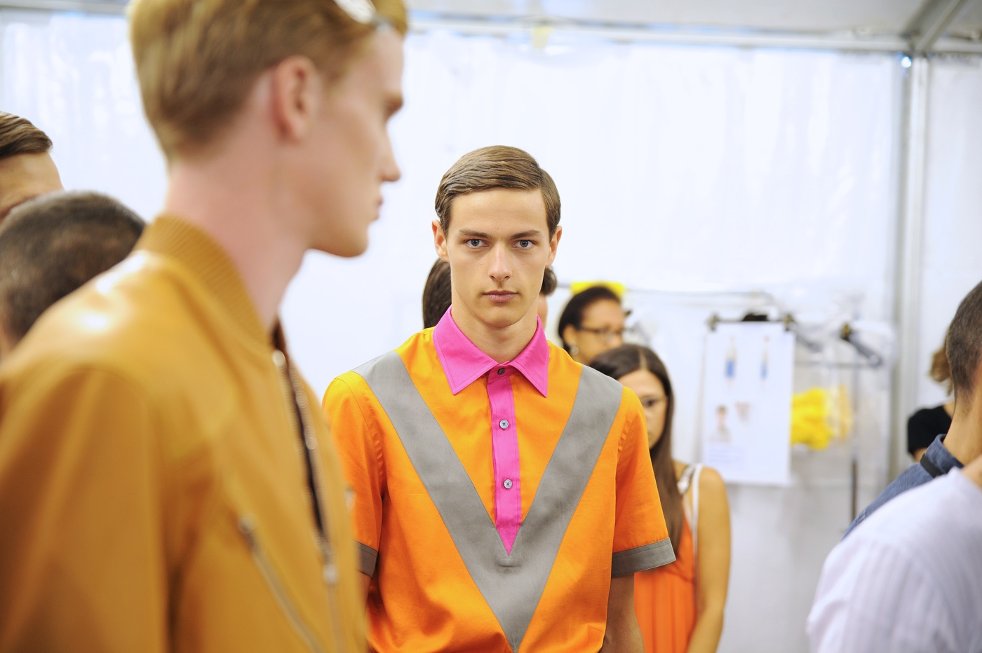 Backstage at the Louis Vuitton Menswear Spring 2015 Show 24