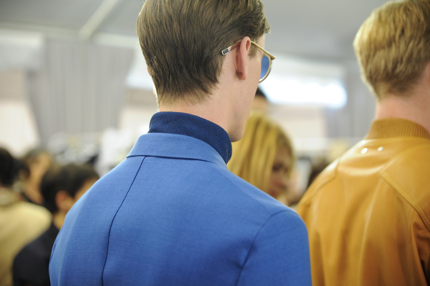 Backstage at the Louis Vuitton Menswear Spring 2015 Show 35