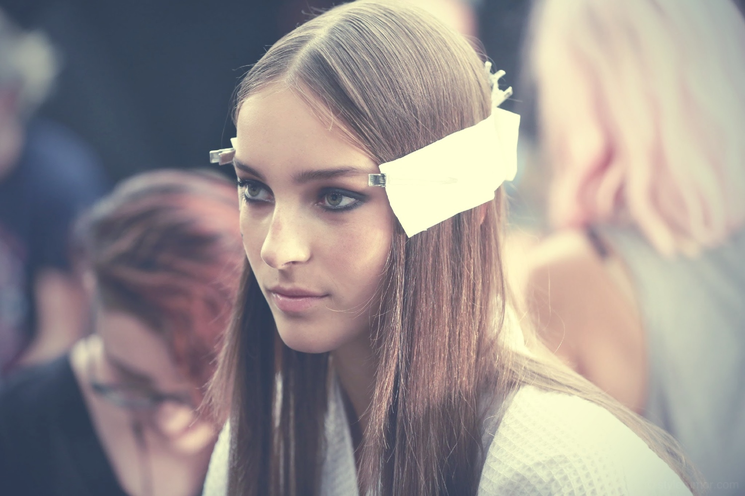 Backstage at the Tommy Hilfiger Spring 2015 Show 2