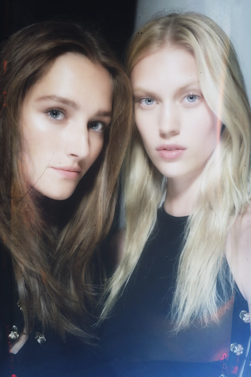 Backstage at the Vaccarello x Versus Spring 2015 Show 2
