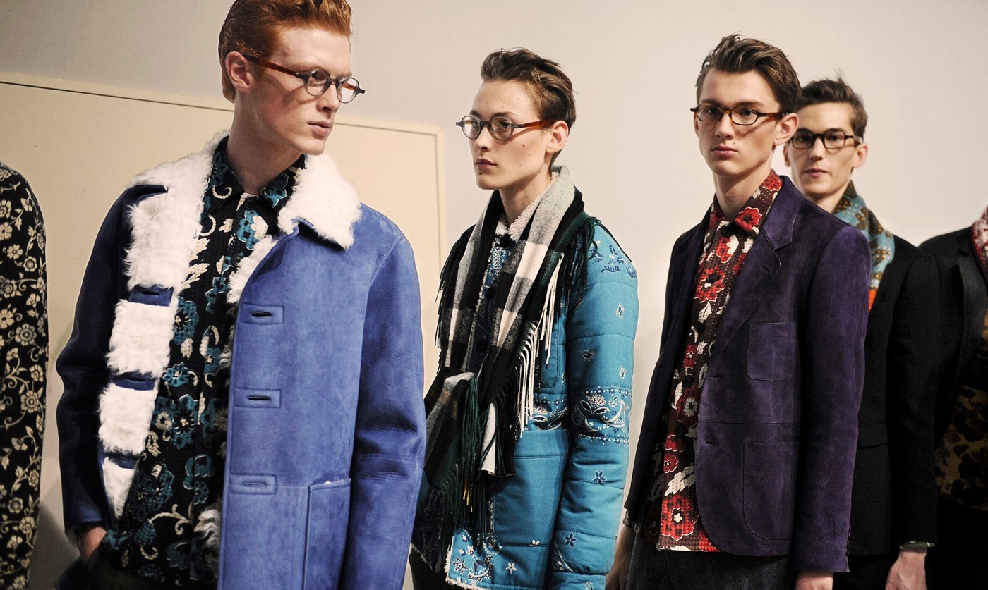 Backstage at the Burberry Prorsum Fall 2015 Show 3